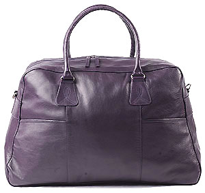 Purple weekend bag
