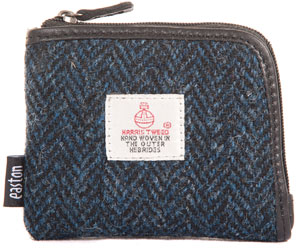 Harris Tweed zip top purse