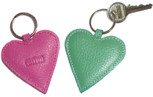 2 Heart keyrings