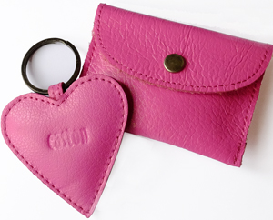 Pink Purse & Keyring set