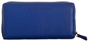 Blue Bertie purse with Card-Guard lining