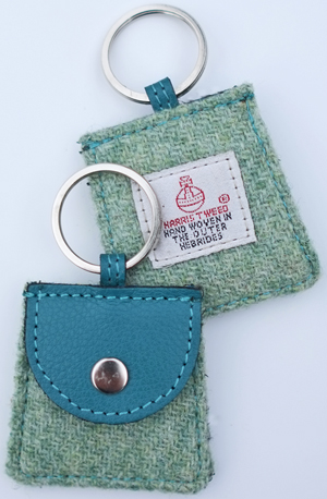 Harris tweed handbag keyring