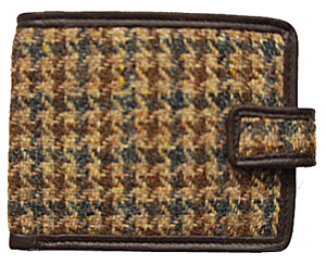 Harris tweed Tabbed Wallet