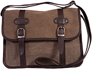 Leather & Canvas Satchel