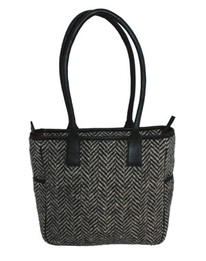 Herringbone Tweed Tote
