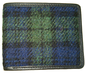 Harris tweed card-guard pocket wallet