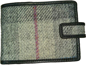 Harris tweed Card - Guard Tabbed Wallet