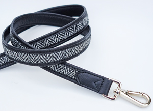 Harris tweed dog lead