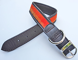 Medium Harris Tweed Dog Collar
