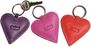 Set of 3 Heart Keyrings