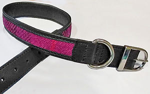 Large Harris tweed Dog Collar