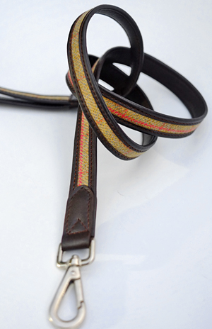 Saxony tweed dog lead