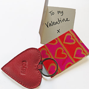 Valentines Red Heart Keyring